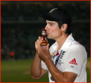 Captain Alastair Cook with The Ashes, Oval, 2013