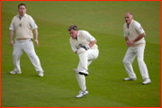 MCC v Lords & Commons, 2011. MPs (l-r): Nigel Adams; Ed Balls & Crispin Blunt.
