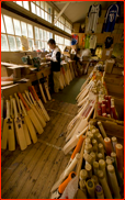 The Newbery bat workshop at the County Ground, Hove