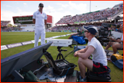 Kevin Pietersen takes a closer look at the Hot Spot camera