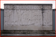 Play up...the relief by Gilbert Bayes outside Lord's Cricket Ground
