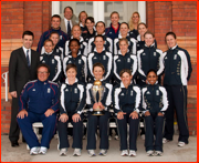 The England Team at Lord's after winning the Women's World Cup.