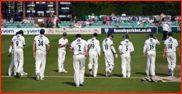 Worcestershire take the field after tea, New Road