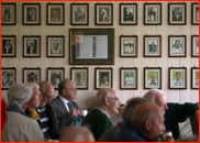 Mostly men in the Ladies Pavilion, New Road, Worcester