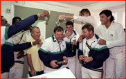 Mike Gatting is congratulated, County Champions, 1990
