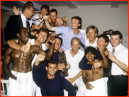 Hampshire celebrate winning the 1991 NatWest trophy