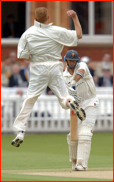 Nasser Hussain out to Shaun Pollock, 2002 B&H Cup Final