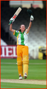 Australia's Lisa Keightley celebrates first century at Lord's by a woman.