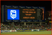 Ashley Giles comes on, Port Elizabeth, South Africa.