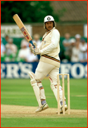 Wayne Larkins batting