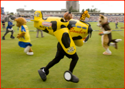 The mascot race during the Twenty20 Finals Day, 2007