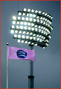 Lord's floodlights in action for the first time v Kent