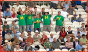 Mushtaq Ahmed fans during the last C&G Final, Lord's