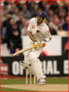 Kevin Pietersen struck, Headingley Test, Leeds, England.