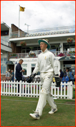 Matthew Prior walks out to field, England Under 19, 2001