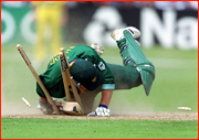 Jonty Rhodes in. 1999 World Cup, Leeds, England.