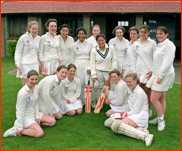 Cricketers at Rodean School, Sussex