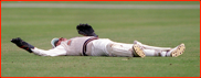 Wicket keeper Jack Russell floored
