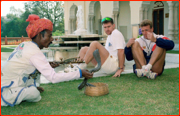 Robin Smith & Alec Stewart on the back foot, Jaipur, India.