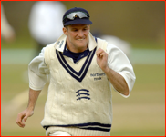 Middlesex captain Andrew Strauss fields