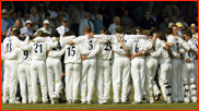 Sussex celebrate winning the first division, Hove, 2003