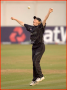 NZ's Haidee Tiffen celebrates catching England's Claire Taylor, T20, Hove.