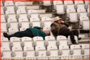 Gripped fans, Trent Bridge, England.