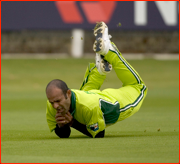 Rana Naved-ul-Hasan catches Kevin Pietersen.