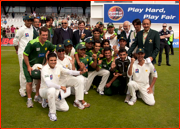 Pakistan celebrate beating Australia, Headingley.