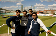 Sourav Ganguly, Rahul Dravid, Anil Kumble & Sachin Tendulker pose, The Oval.