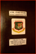 Colonel Zaki's office door.