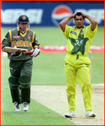 Beating Pakistan in the 1999 World Cup, Northampton, England.