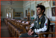Pakistan captain Salman Butt sits in the Long Room, Lord's.