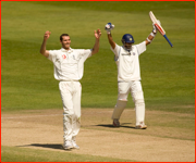 Rahul Dravid (winner), Chris Tremlett (isn't), Trent Bridge.