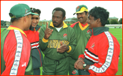 Coach Gordon Greenidge.