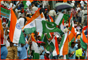 India and Pakistan supporters, 2003 World Cup.